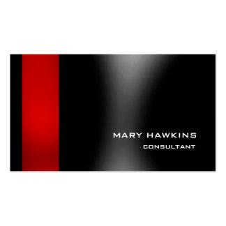 Elegante moderno gris negro rojo elegante de moda tarjetas de visita