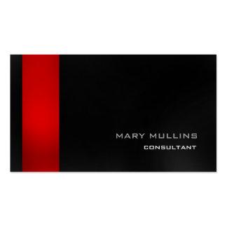 Elegante moderno gris oscuro rojo elegante de moda tarjetas de visita
