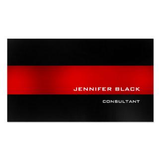 Elegante moderno gris oscuro rojo elegante tarjetas de visita