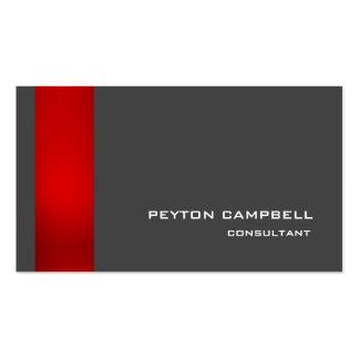 Elegante moderno gris rojo elegante de moda tarjetas de visita