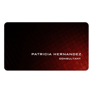 Elegante moderno rojo elegante profesional de tarjetas de visita