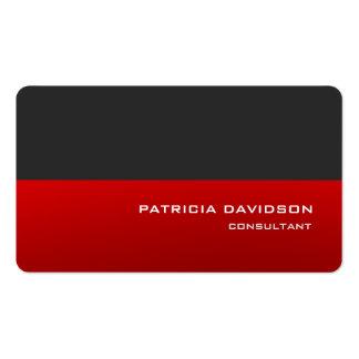 Elegante moderno rojo gris elegante profesional tarjetas de visita