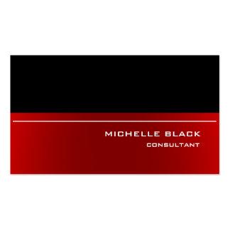 Elegante moderno rojo negro elegante profesional tarjetas de visita