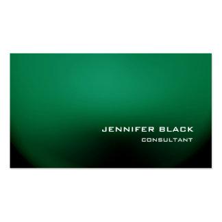Elegante moderno verde elegante profesional tarjetas de visita