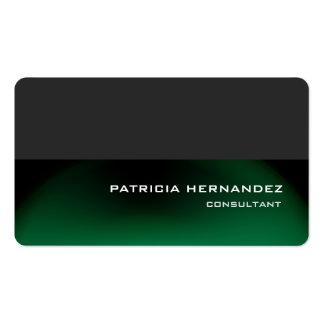 Elegante moderno verde gris elegante profesional tarjetas de visita
