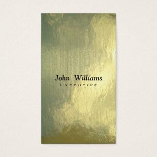 Elegante profesional metal freelance oro dorado tarjeta de negocios