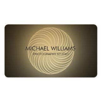 Elegante Profesional Minimo Metal Oro Dorado Tarjetas De Visita