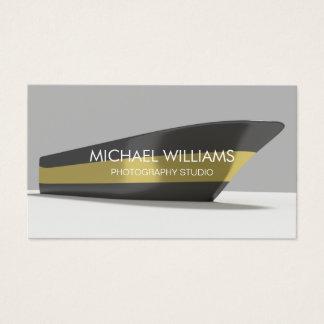 Elegante Profesional Oro Barco Negro Publicidad Tarjeta De Negocios
