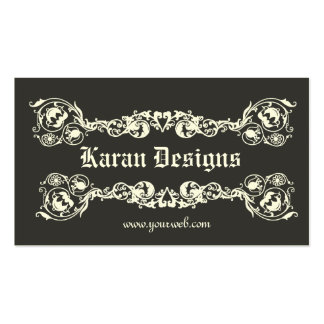 Elegante real tarjeta de visita