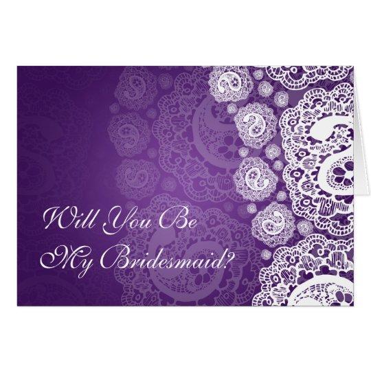 Elegante sea mi púrpura del cordón de Paisley de Tarjeta De Felicitación
