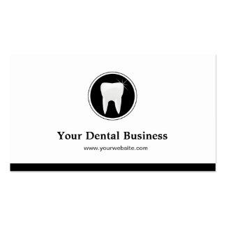 Elegante simple - clínica del cuidado dental del tarjetas de visita