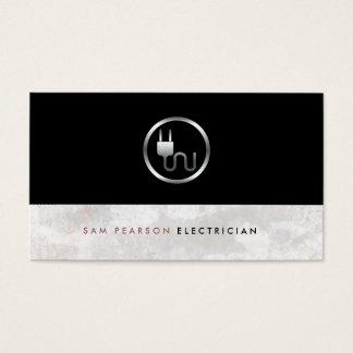 Elegante simple del icono intrépido del enchufe tarjeta de visita