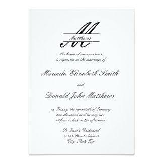 Elegante simple formal - invitación del boda