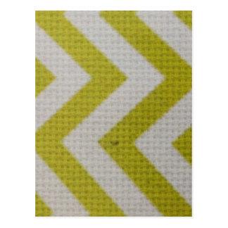 elegante tejida modelo blanco del amarillo de la m postal