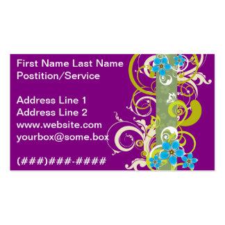 Elegante violeta plantillas de tarjetas personales
