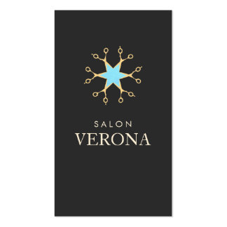 Elegante y elegante, tijeras, salón de pelo del tarjetas de visita