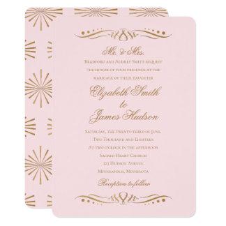 Elegantes clásicos se ruborizan y la invitación
