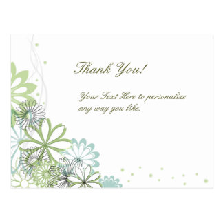 Elegantes personalizada le agradecen postal