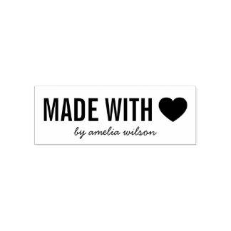 Elegantes simples personalizan el corazón hecho sello automático