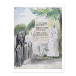 """""""Elegía escrita en un cementerio del país"""", diseño Postal"""