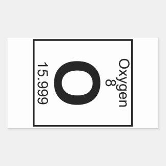 Elemento 008 - O - Oxígeno (lleno) Pegatina Rectangular
