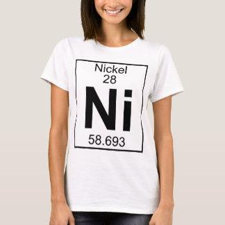 Elemento 028 - Ni - Níquel (lleno) Camiseta