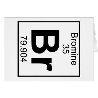 Elemento 035 - Br - bromo (lleno) Tarjeta De Felicitación