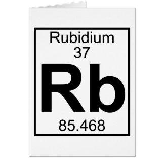 Elemento 037 - Rb - rubidio (lleno) Tarjeta De Felicitación