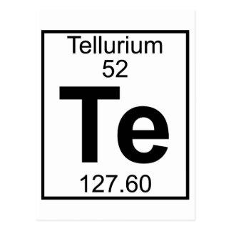 Elemento 052 - Te - telurio (lleno) Postal