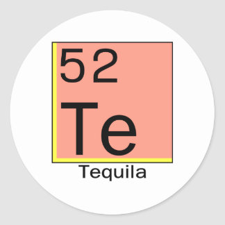 Elemento 52: Tequila Pegatina Redonda