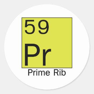Elemento 59: Bistec de costilla Pegatina Redonda