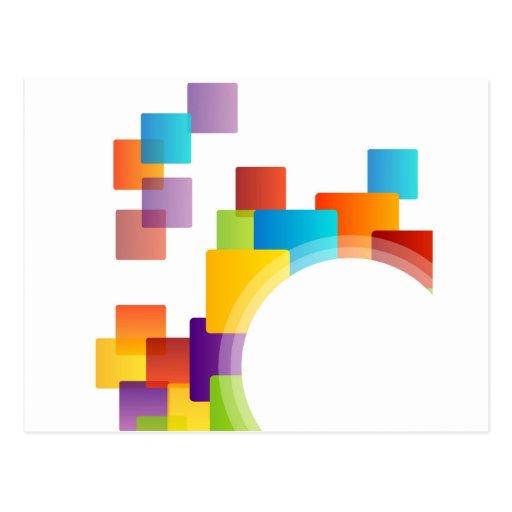 Elemento decorativo del diseño tarjetas postales