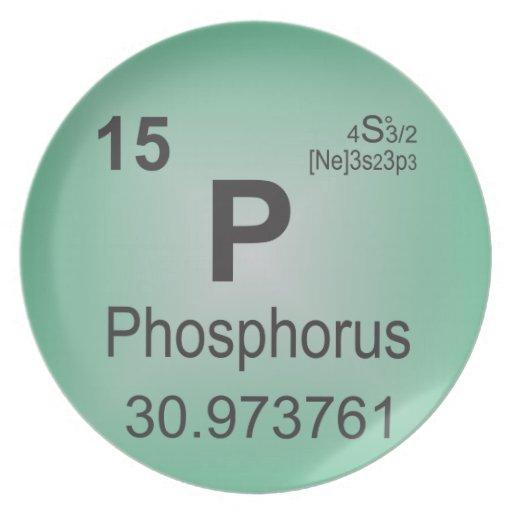 elemento individual del fosforo tabla periodica plato fosforo tabla periodica