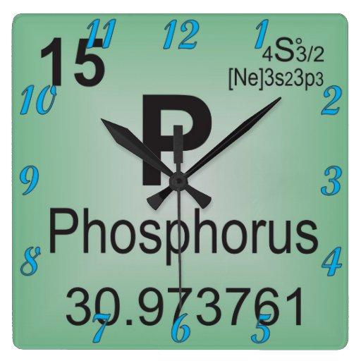 Suggestions online images of fosforo tabla periodica elementoindividualdelfosforotablaperiodicarelojdepared urtaz Choice Image