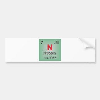 Elemento individual del nitrógeno de la tabla pegatina para coche