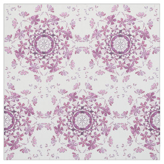 elemento púrpura retro floral tela