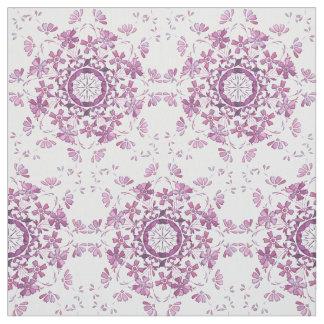 elemento púrpura retro floral telas
