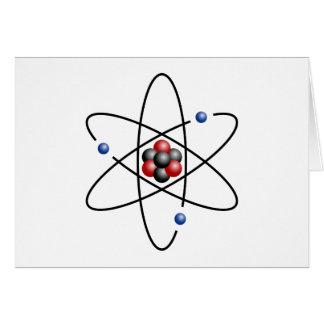 Elemento químico número atómico 3 del átomo del li tarjetón