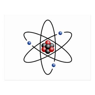 Elemento químico número atómico 3 del átomo del postal