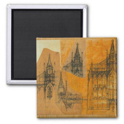 Elementos arquitectónicos: Iglesia gótica Imán De Nevera