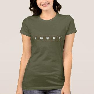 Camiseta Elementos de la camiseta de la persistencia