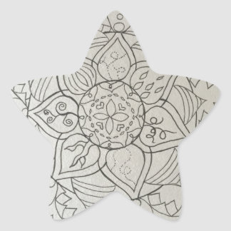 elementos de la mandala pegatina en forma de estrella