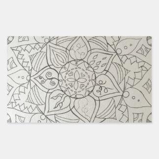 elementos de la mandala pegatina rectangular