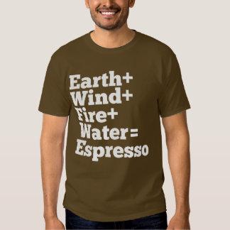 Elementos del café express camisas