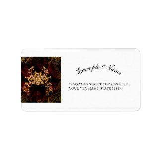 Elementos florales decorativos maravillosos con la etiquetas de dirección