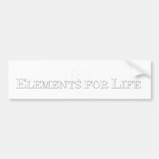 Elementos para la pegatina para el parachoques de  pegatina para coche