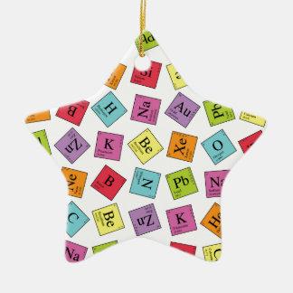 Elementos periódicos adorno de cerámica en forma de estrella