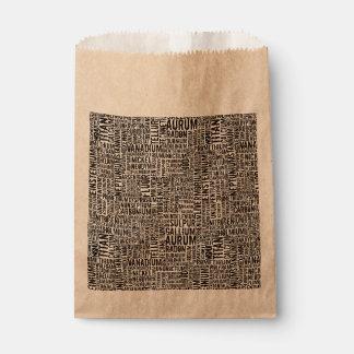 Elementos químicos bolsa de papel