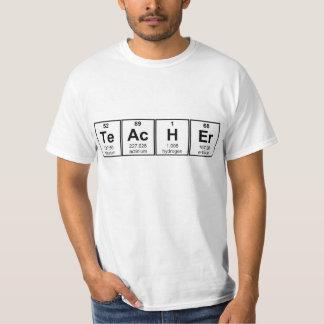 Elementos químicos del profesor de ciencias camiseta