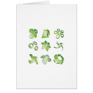 Elementos verdes del icono tarjetón